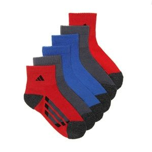 Adidas cushioned climalite socks youth L